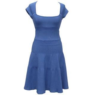 Issa Blue Ribbed Dress