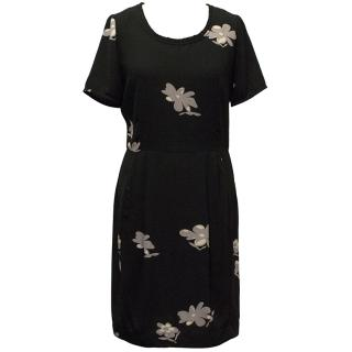 Farhi by Nicole Farhi Black Floral Print Dress