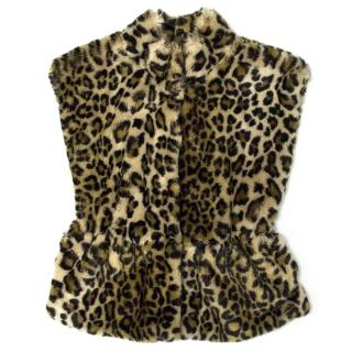 Mayoral of Outwear Girl's Faux Leopard Fur Vest Jacket