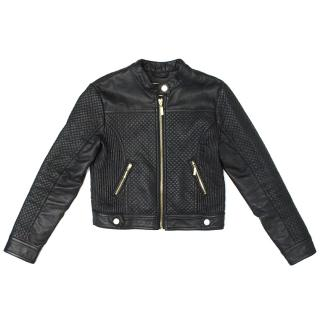 Mayoral of Outwear Girl's Black Leather Jacket