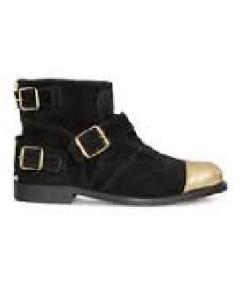 Balmain X H&M black/gold  suede boots EU size 40