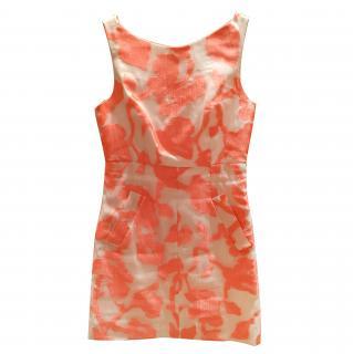 Diane Von Furstenberg  White & Peach Dress