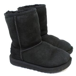 Kids Black Classic Ugg Boots
