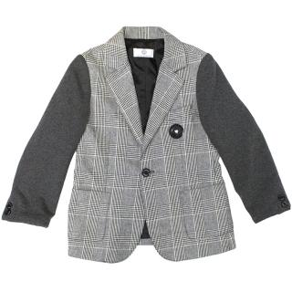 Young Versace Grey Checked Pattern Blazer