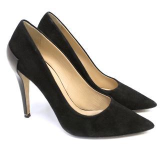 Diane von Furstenberg 'Betty' Black Suede Pointed Heels