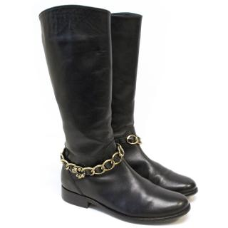 Missouri Kids Black Leather Boots
