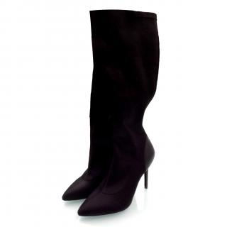 Charles David Black High Heels Women Boots