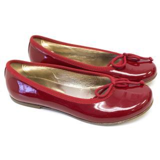 Montelpare Kids Red Ballerina Flats