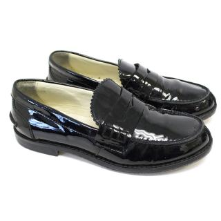 Equerry Kids Black Loafers