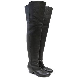 Giuseppe Zanotti Black Over the Knee Boots