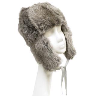Antik Batik Grey Rabbit Fur Hat