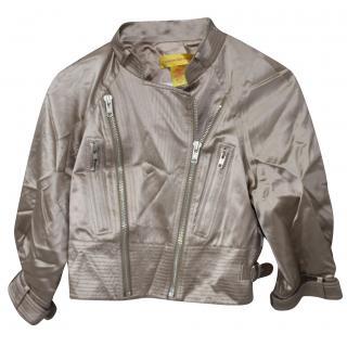 Catherine Malandrino Silk Biker Jacket