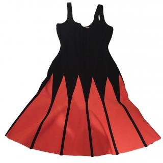 Herve Leger Black & Orange Dress