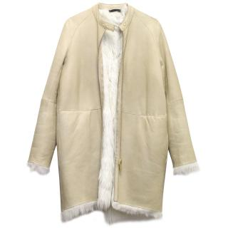 The Row Lambskin Coat