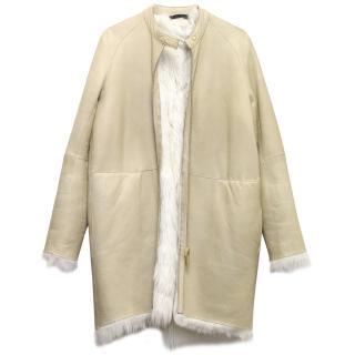 The Row Lambskin Coat