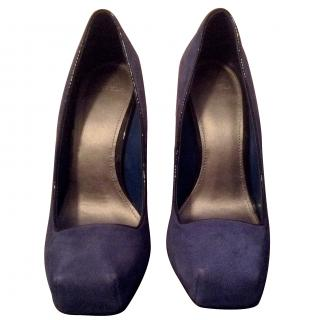 Carvela Adelaide Mid Blue Suede Courts