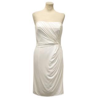 Issa White Strapless Silk Dress
