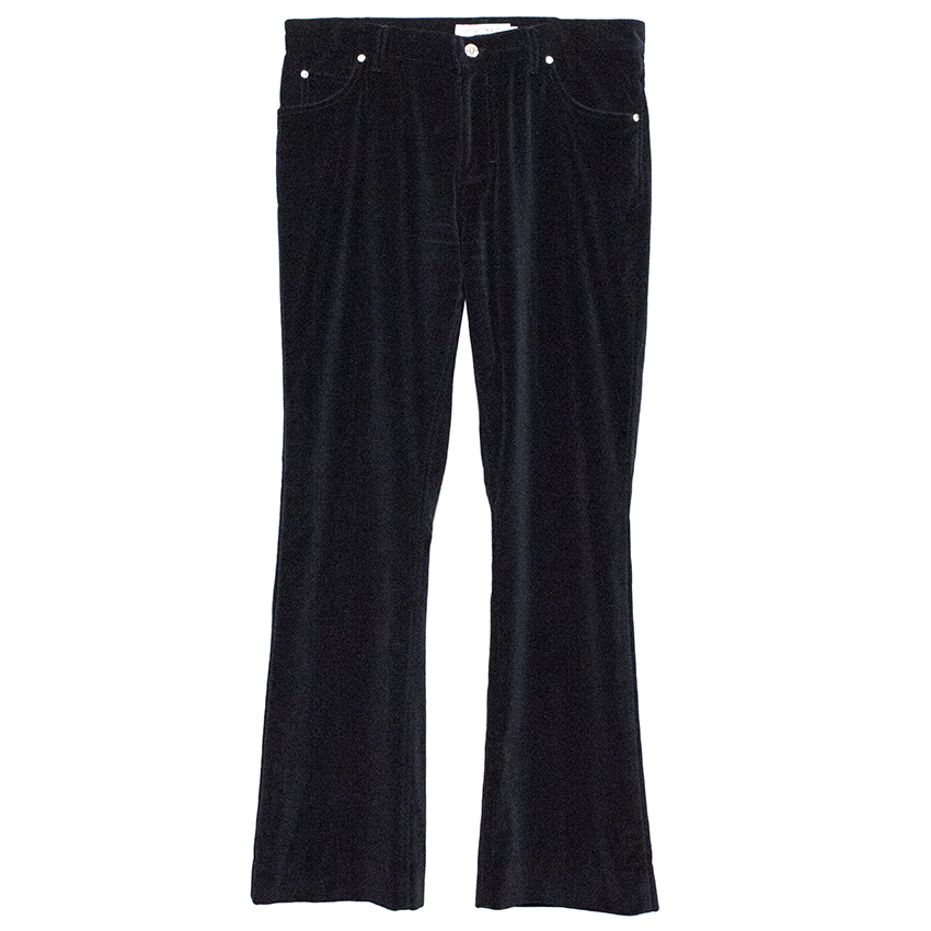 Yves Saint Laurent Black Velvet Trousers