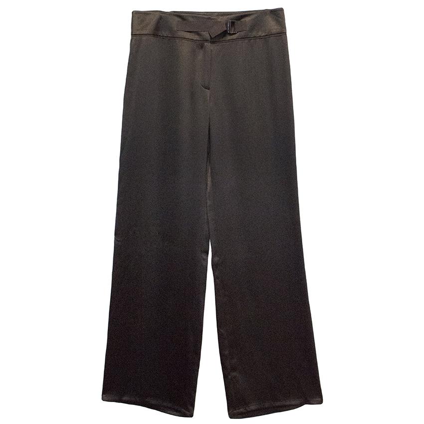 Amanda Wakeley Brown Silk Trousers