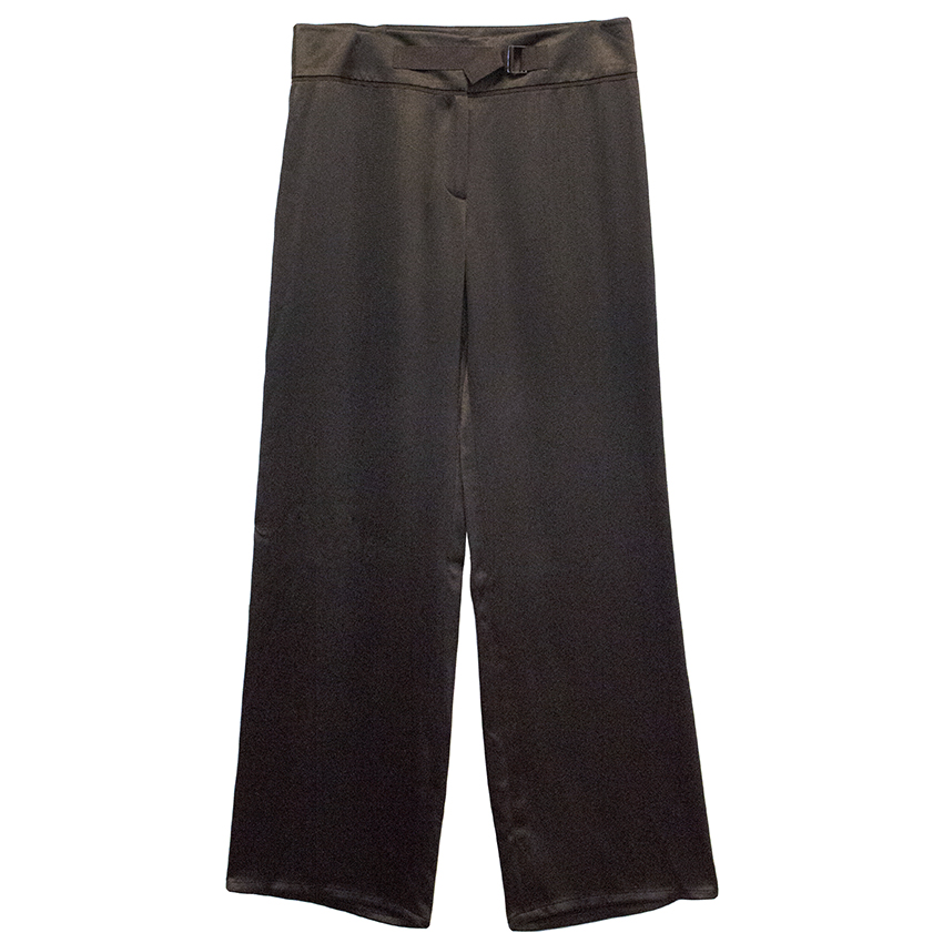Amanda Wakeley Brown Silk Trousers