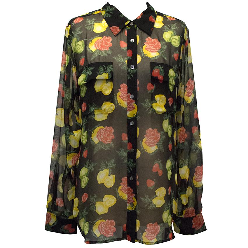 Equipment Floral Silk Blouse