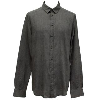 Dolce & Gabbana Black and Grey Speckled Shirt
