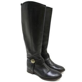 Tory Burch Black Knee High Boots