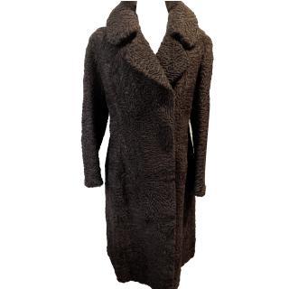 ''Swakara'' Karakul Tailored Designer Coat.