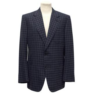 Tom Ford Blue Checkered Blazer