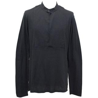 Yves Saint Laurent Navy Blue Long Sleeve Top