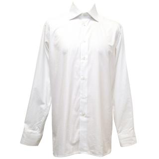 Richard James White Textured Button Down Shirt