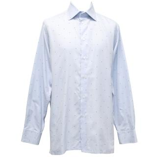 Richard James Pale Blue Speckled Shirt