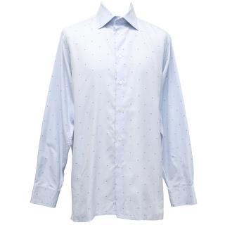 Richard James Pale Blue Speckled Shirt