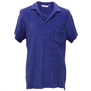 Orlebar Brown Royal Blue Terry Cloth Polo