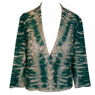Maje green printed jacket