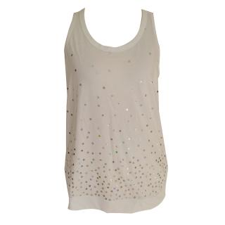 Adidas by Stella McCartney White sequin Workout Top