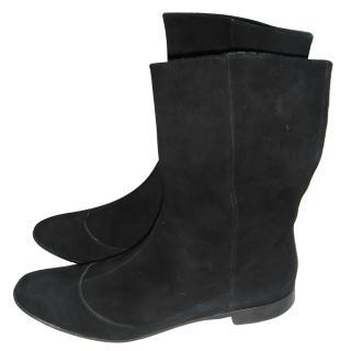 Uterque Black Suede Boots