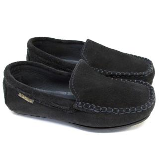 Step2Wo Kids Black Driver Style Shoes