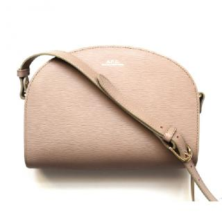 APC Half Moon Bag Beige Sac Demi-lune