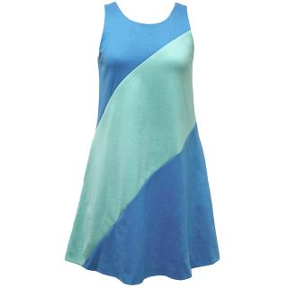 Lisa Perry Blue & Green Sleeveless Dress
