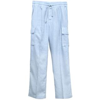 Vilbrequin Light Blue Linen Cargo Trousers