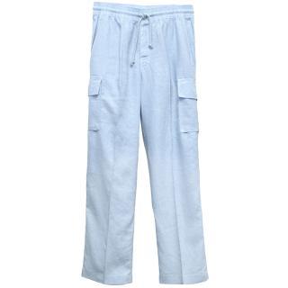 Vilbrequin Light Blue Linen Cargo Trousers