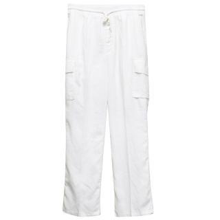 Vilbrequin White Linen Cargo Trousers