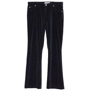 Yves Saint Laurent Black Velvet Trousers