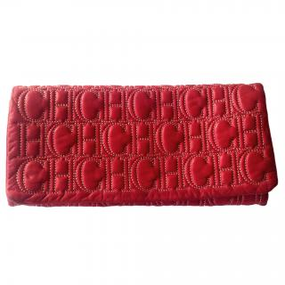 Carolina Herrera Red Jerry Clutch Bsg
