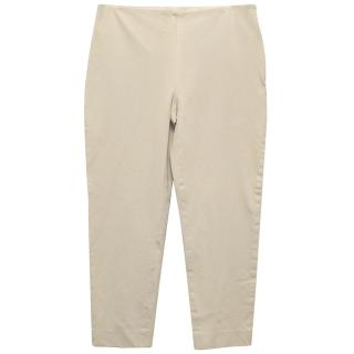 Joseph Beige Cropped Pants with Stretch