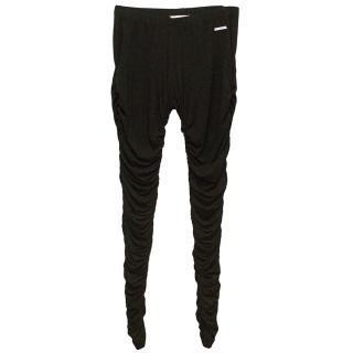 Michael by Michael Kors Black Ruched Leggings
