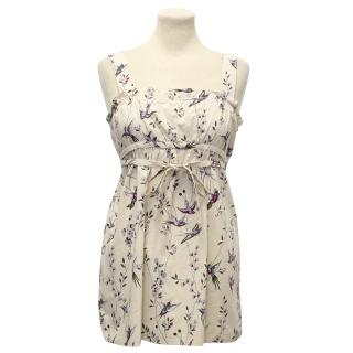 Marni Beige Floral and Bird Print Vest Top