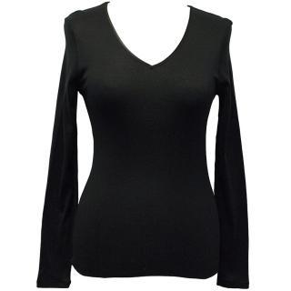 Hanro Black Long-sleeved Top