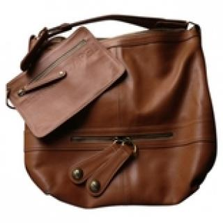 Gerard Darel  Brown Leather Midday Midnight Handbag